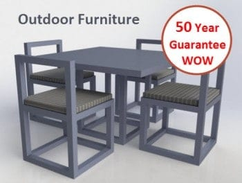 Innovative Garden Furniture With 50 Year Guarantee