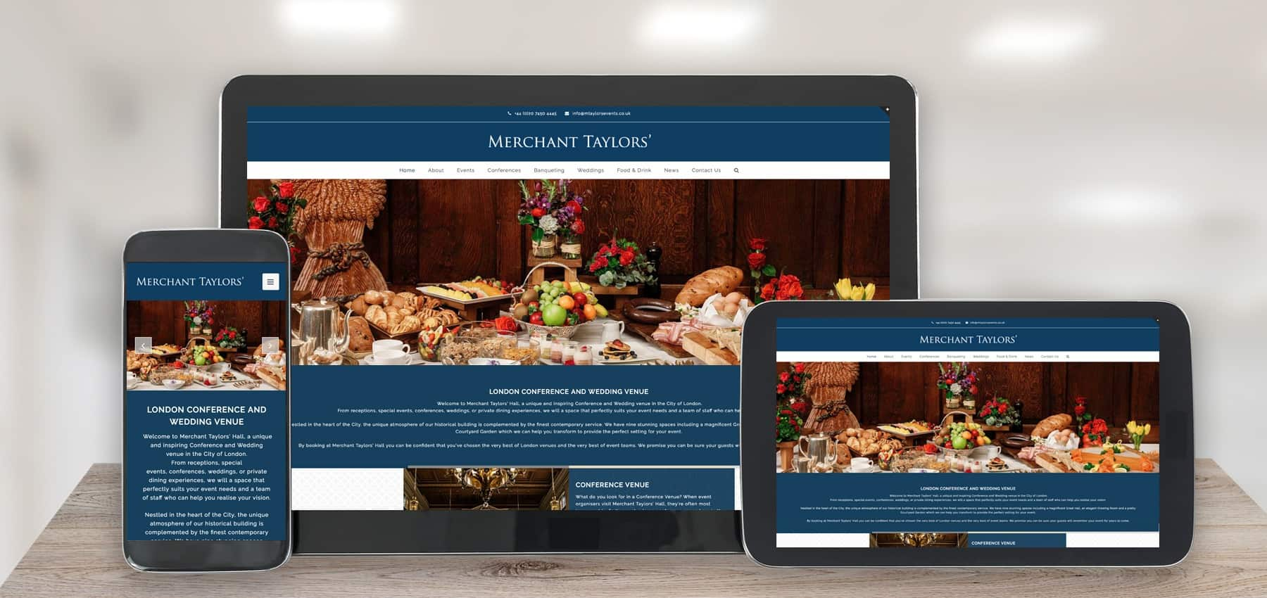 merchant taylors website design peterborough