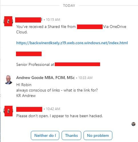Linkedin Hacked beware
