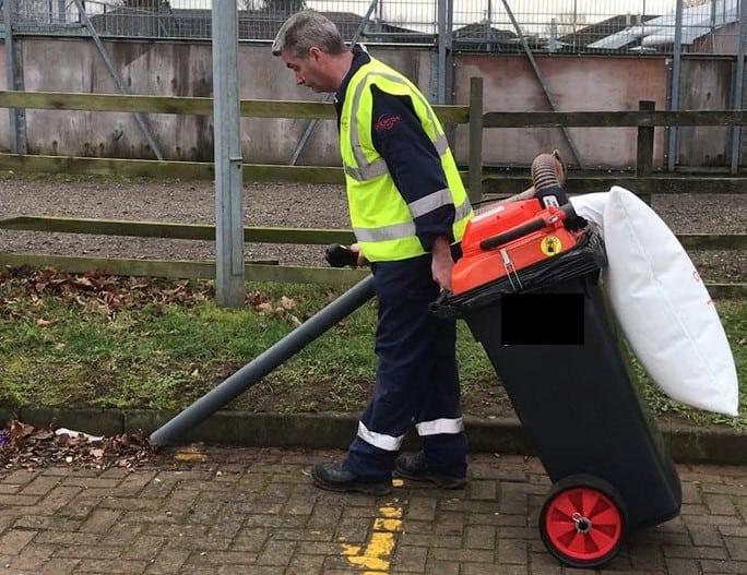 Electric Vacuum Litter Collectors 120-75-E Overton UK Ltd website design Blue Dolphin