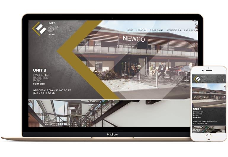 Evolution Business Park - website design by Blue Dolphin Business Development