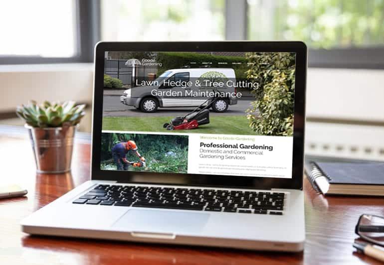 Goode gardening Services Peterborough Website Design