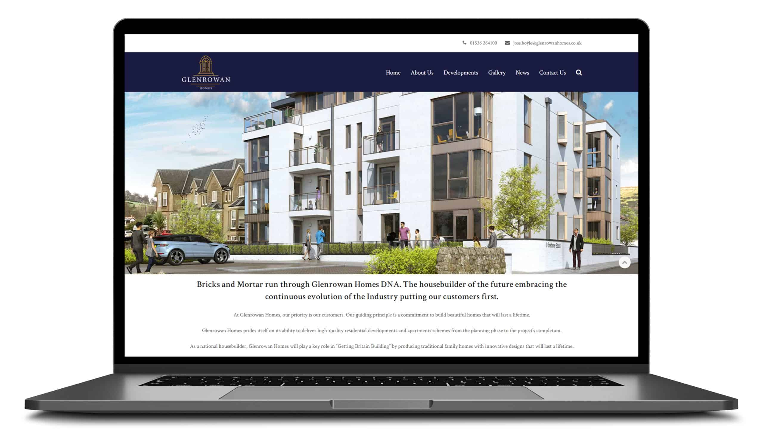 glenrowan homes website Blue Doplhin web design peterborough