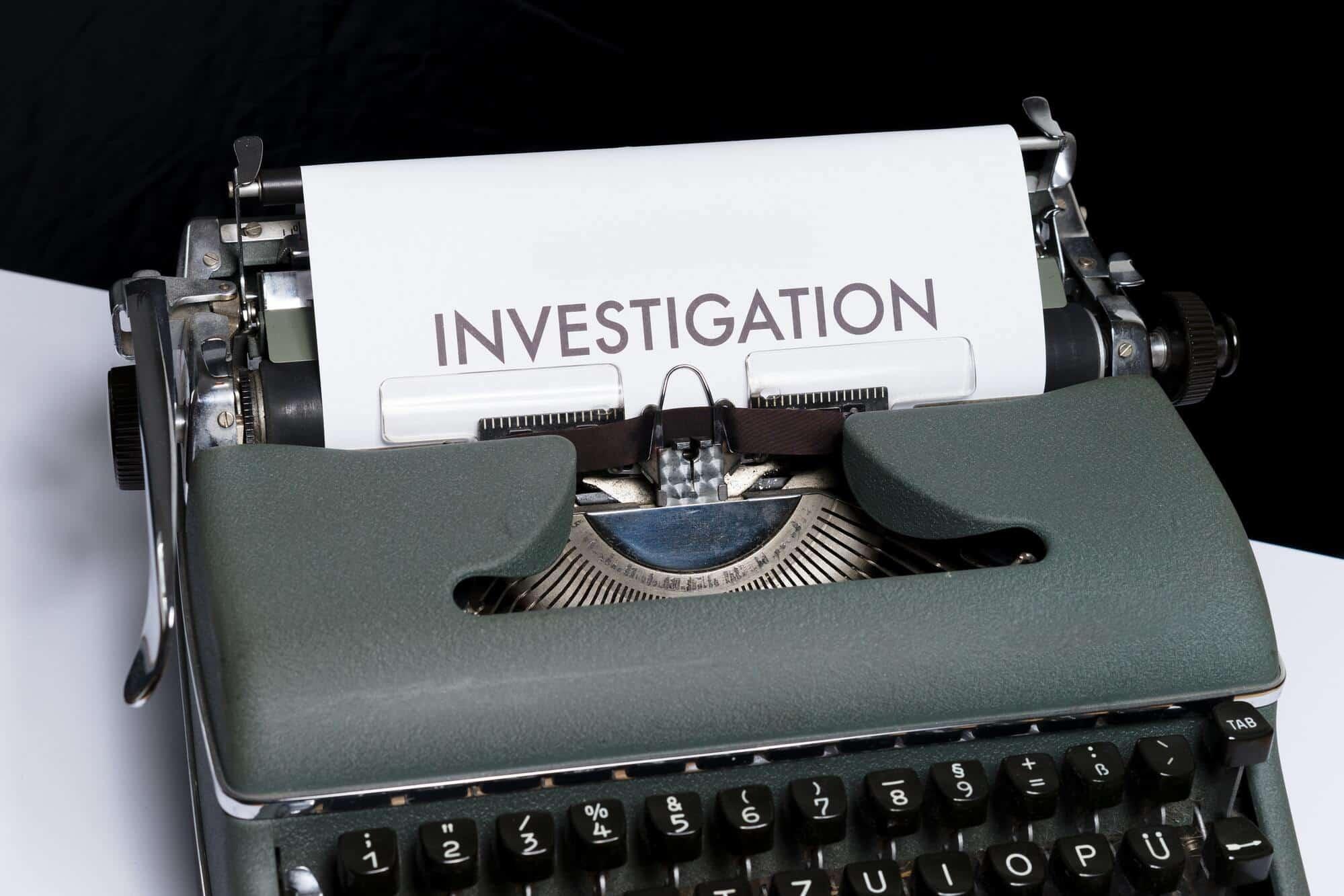 SEO website marketing blue dolphin typewriter investigation