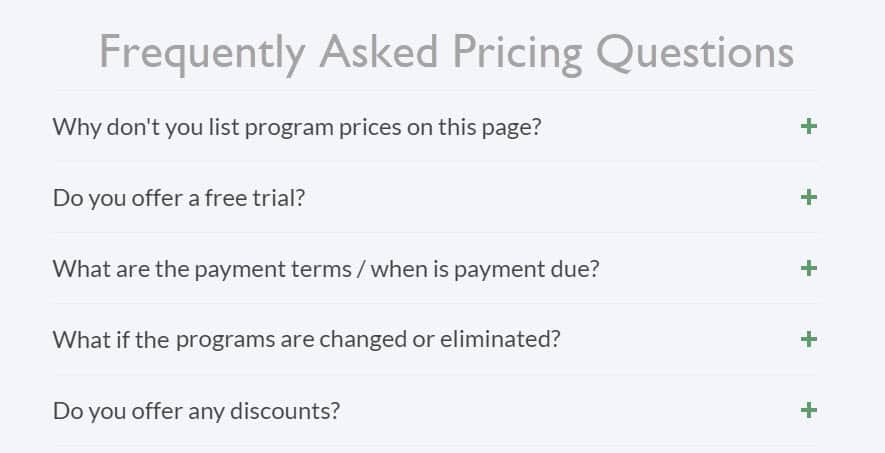 pricing FAQs Web design Blue Dolphin