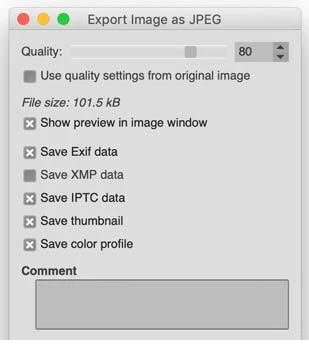 gimp how to optimise images web design blue dolphin website design